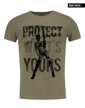 army green sexy girl t shirts