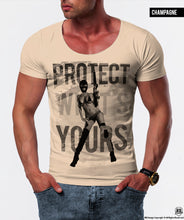 "Sexy Gangster Girl Men's T-shirt ""Protect What's Yours""/ Color Option / MD626"