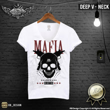 Men's Mafia T-shirt Gangster Skull Uzi Machine Gun MD627