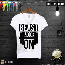 deep v neck training t-shirt