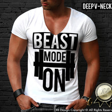 deep v neck bodybuilding t shirt