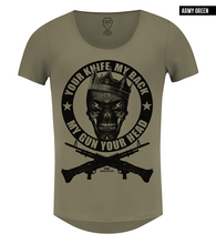 "Men's Fashion Skull T-shirt ""Creepy Angry King""/ Color Option / MD648"