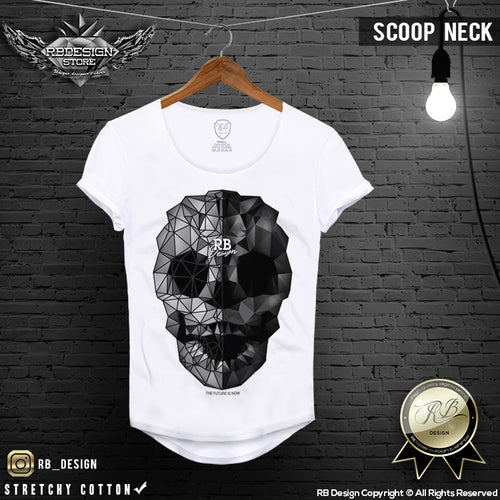 rb design abstract skull t-shirt