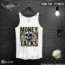 Money Talks Designer Skull Mens T-shirt Dollar Bill Tank Top MD669 C