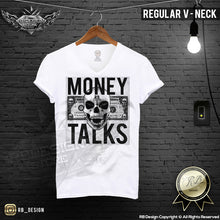 Designer Skull Mens T-shirt Money Talks Dollar Bill Tank Top MD669 Black