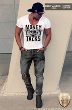 money talks deep v neck t shirt