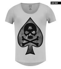 men's skull t shirt rb design spades