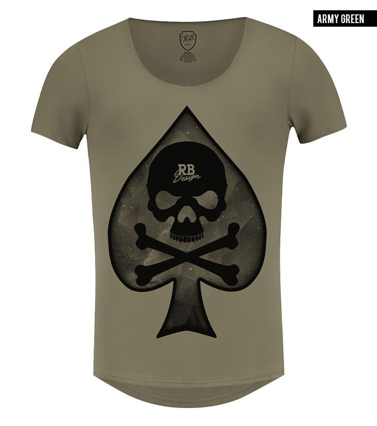 scoop neck spades t-shirt rb design