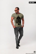 "Men's T-shirt RB Design Spade Skull ""Galaxy"" Graphic Tee / Color Option / MD671"