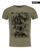 khaki mens skeleton prayer designers t shirt