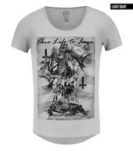 rb design skeleton mens graphic tee gray