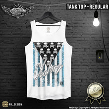 Men's Skull Flag T-shirt Victory Army Warrior Tank Top MD690 BLUE