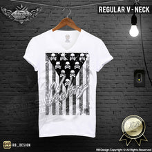 Men's Skull Flag T-shirt Victory Army Warrior Tank Top MD690 B