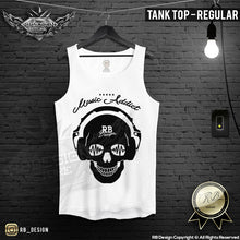 Men's Skull T-shirt Festival Skull Sound Wave RB Design Music Addict Tank Top MD693