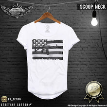 scoop neck muscle fit warrior t-shirt