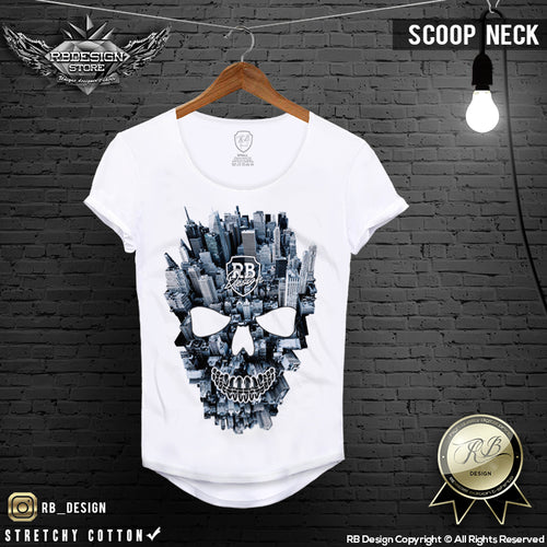 mens fashion new york skull t-shirt