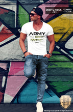 deep v neck muscle fit t shirt