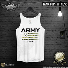 army us flag training tank top