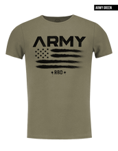 mens fashion army khaki muscle fit t shirt