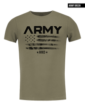 rb design t shirt army fashion khaki tee