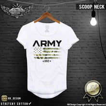 scoop neck rb design t shirt