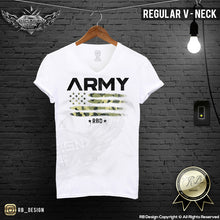 v neck army graphic tee