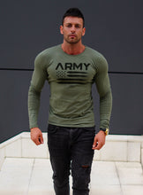 "Mens Long Sleeve T-shirt ""ARMY"" MD711"