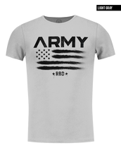 gray t-shirt rb design brand premium tees