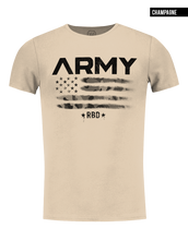 beige mens t shirt fashion US flag tee