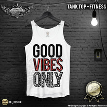 good vibes training tank top for men