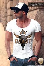 scoop neck beast mode on t shirt