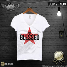 deep v neck festival t shirt
