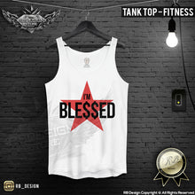 mens training tank top red star