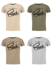 "Men's Funny Slogan T-shirt ""Sorry I am super Fresh"" Khaki Gray Beige / Color Option / MD778"