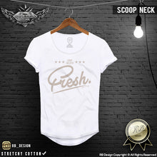 mens scoop neck printed shirts super fresh tees
