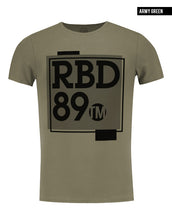 mens khaki t-shirt rb design