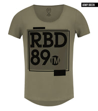 khaki mens t-shirt rb design