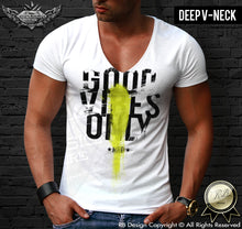 deep v neck designer t shirts