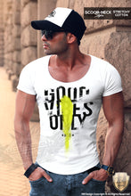 designer graphic muscle fit t shirts