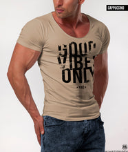Good Vibes Only Men's T-shirt Casual Fashion Khaki Gray Beige Top/ Color Option / MD801
