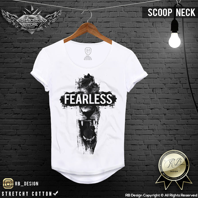 mens fearless lion t-shirt