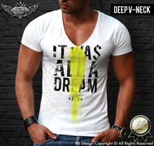 deep v neck muscle fit t shirts