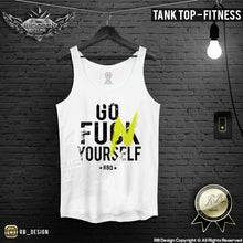 funny training tank top for men
