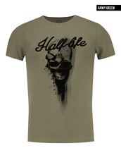 luxury mens khaki skull t-shirt