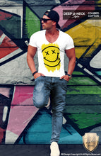 mens emoji t-shirts happy smile face tee