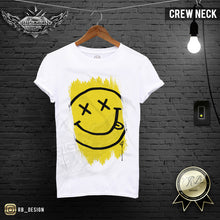 crew neck mens shirts smiley face