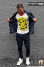 mens smile face printed t-shirt
