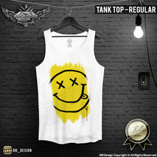 mens regular tank top smiley happy face vest