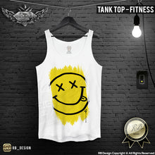 mens fitness tank top smile face