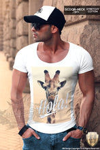 street style scoop neck mens t-shirt